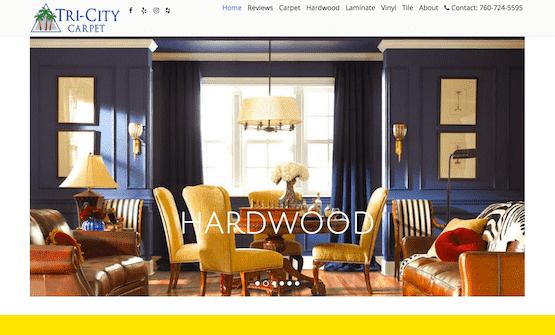 new flooring store website by speedwebsitedesign.com