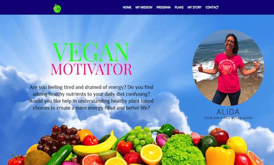 veganmotivator.com built by SpeedWebsiteDesign.com